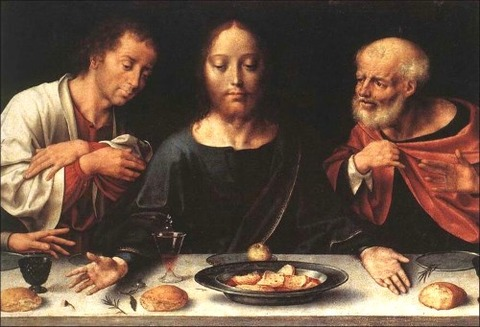 The Last Supper Christ  John Peter 1520  Joos van Cleve