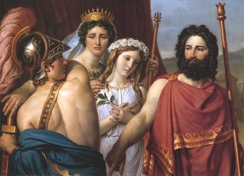 Jacques-Louis David, The Anger of Achilles, 1819