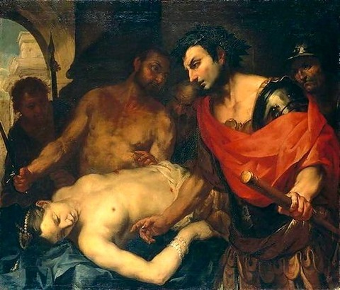 Antonio Zanchi Nero with the Corpse of his Mother Agrippina
