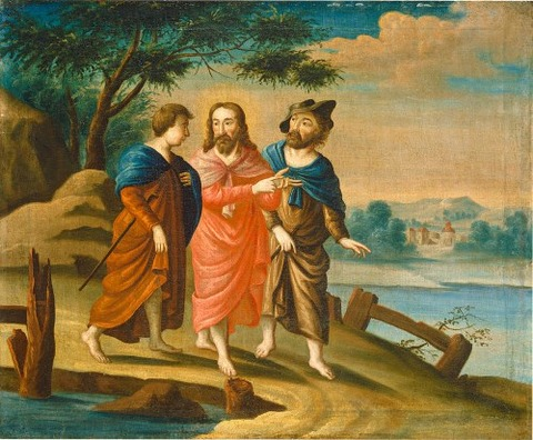 Christ On The Road To Emmaus by American 18th Century