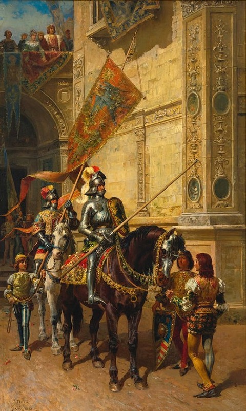 To The Joust by Cesare Auguste Detti