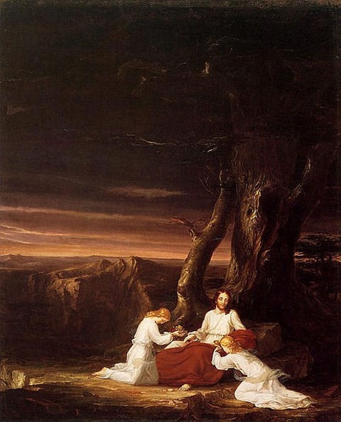 Cole Thomas Angels Ministering to Christ in the Wilderness 1843