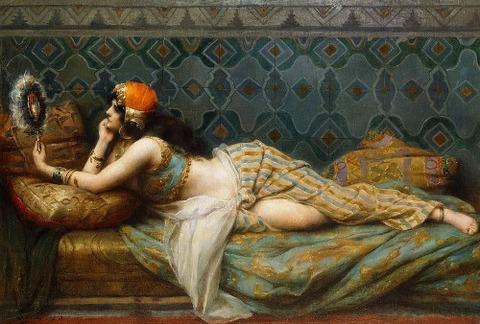 The Odalisque by Adrien Henri Tanoux