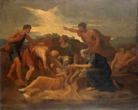 Zenobia Found On The Banks  Arax 1634  Nicolas Poussin