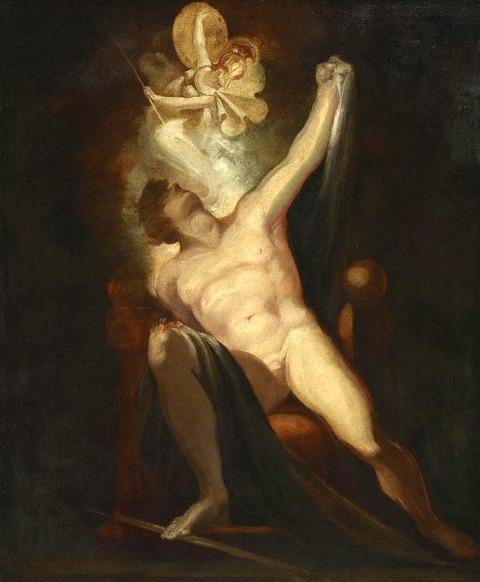 Satan And The Birth Of Sin by Johann Heinrich Fuseli