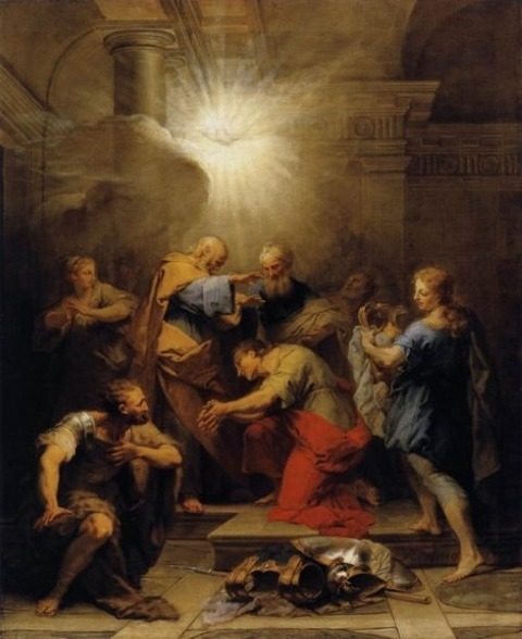 Ananias Restoring the Sight of St Paul Jean Restout