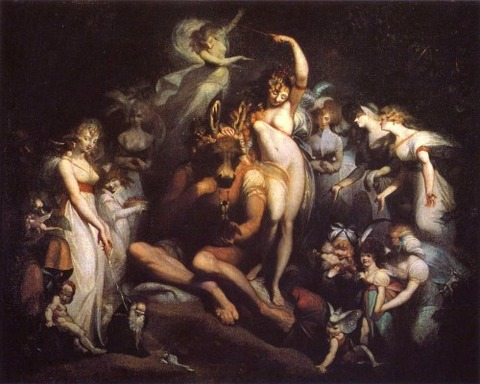Titania Bottom A Midsummer Night's Dream 1790  Henry Fuseli