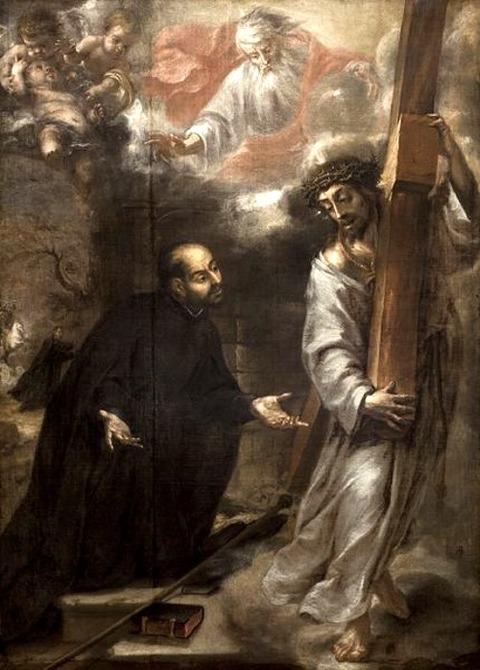 Juan de Valdés Leal 1660 Visión de Loyola en las calles de Roma