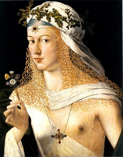 Lucrezia Borgia, by Bartolomeo Veneto