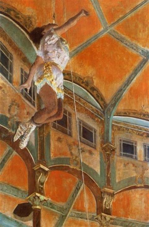 Miss La La at the Cirque Fernando by Edgar Degas, 1897