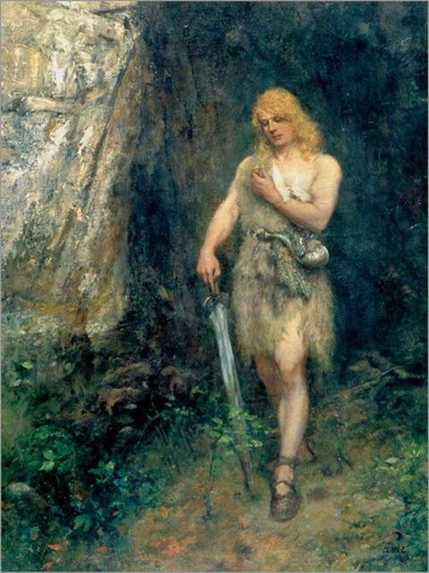 Ferdinand Leeke Siegfried vor Fafners Höhle