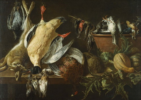 Adriaen van Utrecht  Still Life Games Vegetables 1648