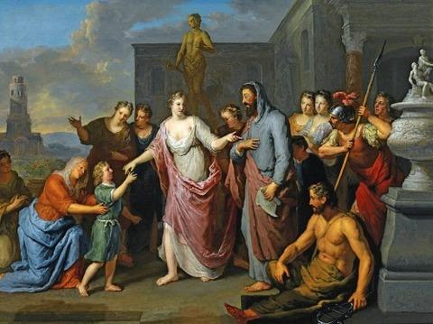Olympia Presenting  Alexander  Great  Aristotle  Gerard Hoet
