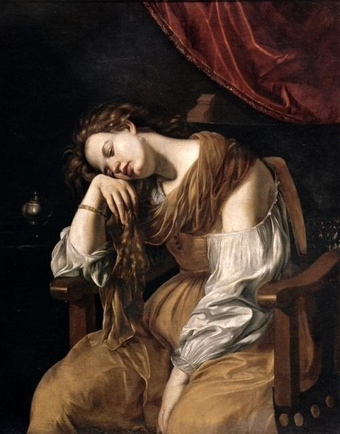 Mary Magdalene as Melancholy  Artemisia Gentileschi  1621-22