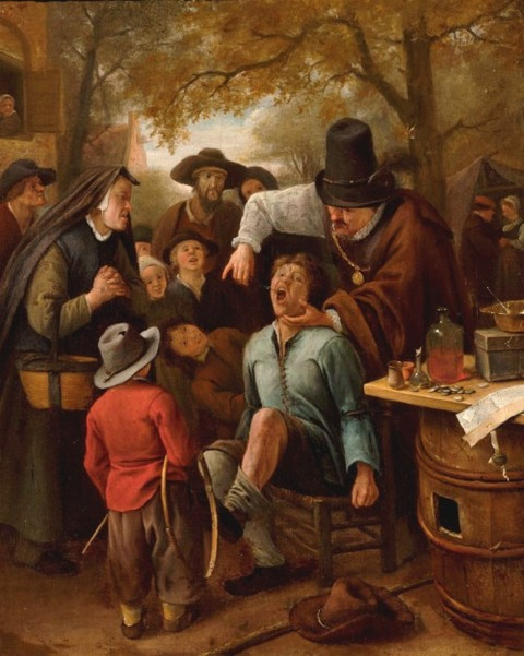 A Tooth Puller by Jan Steen  1651