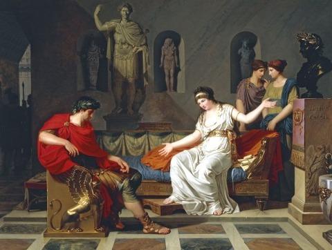 Octavian after Battle of Actium 1787-1788 Louis Gauffier