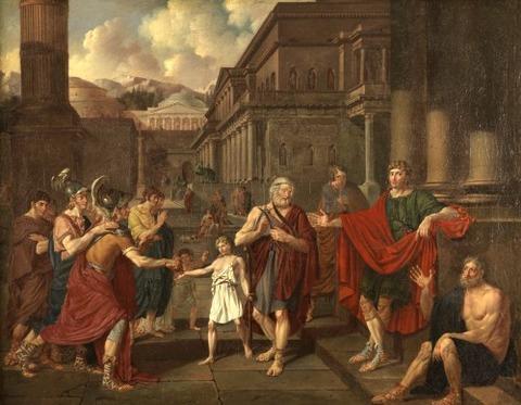 Homer Reciting Poems in City of Argos Denis A. Volozan 1811
