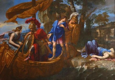 Rinaldo Abandons Armida  Charles Errard  1640
