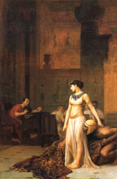 Jean-Leon Gerome  Cleopatra Before Caesar