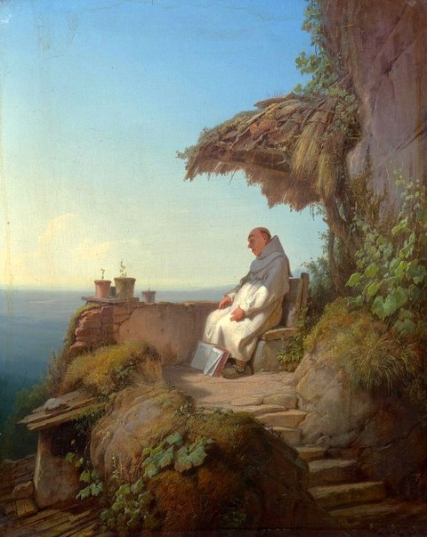 the-sleeping-hermit Carl Spitzweg