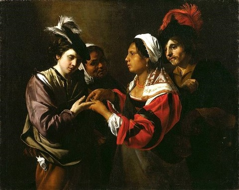 Bartolomeo Manfredi - Fortune Teller  1616-17