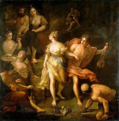 Jean Roux, Orphée quitte les enfers avec Eurydice, 1718-1720,