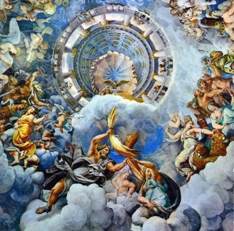 guilio romano fall of giants 1532 1534 fresco