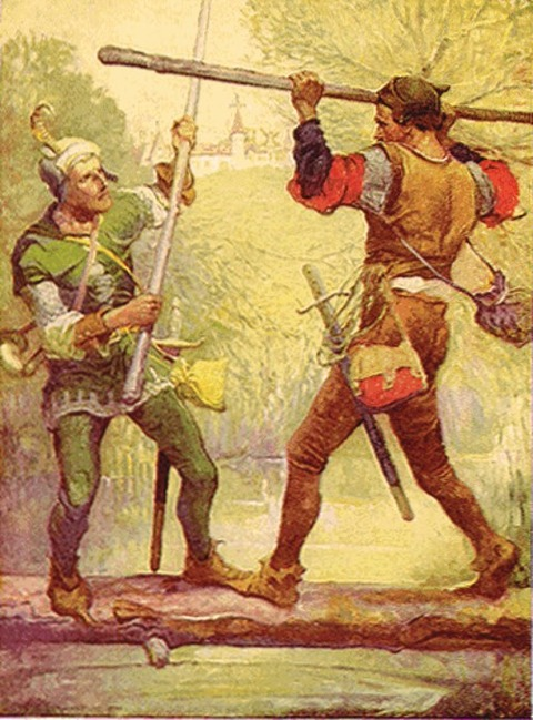 Robin Hood and Little John, by Louis Rhead 1912
