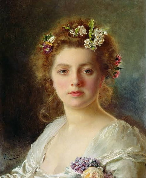 Flora by Gustave Jacquet 1846-1909