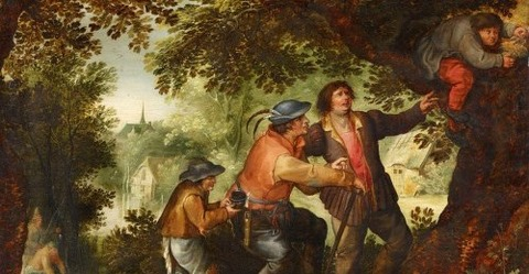 David Vinckboons, The Nest Robber 1576-1632 -