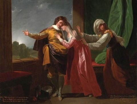 London Romeo And Juliet by Benjamin West