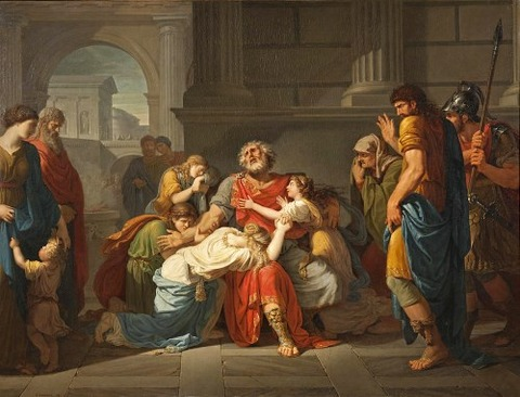 Commending His Children To The Gods by Benigne Gagneraux