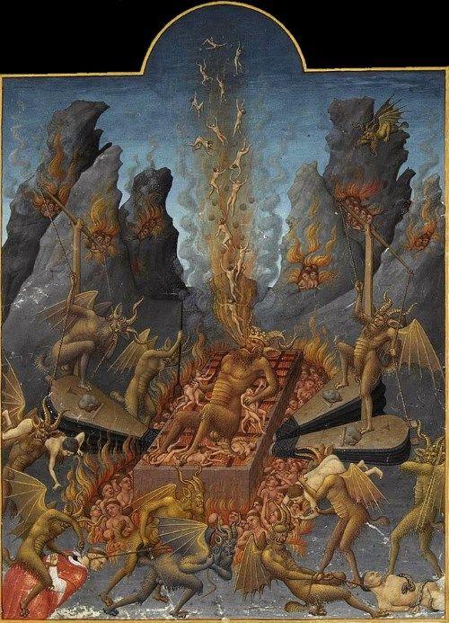 悪魔の絵画火を噴く地獄