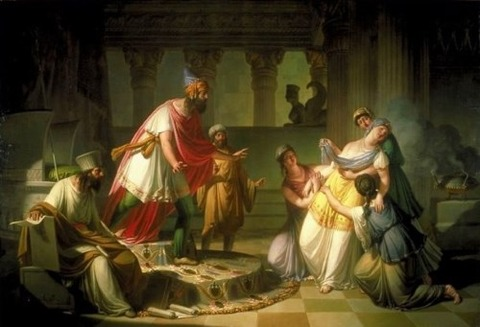 Queen Esther Before Ahasuerus' , Francesco Caucig, 1815