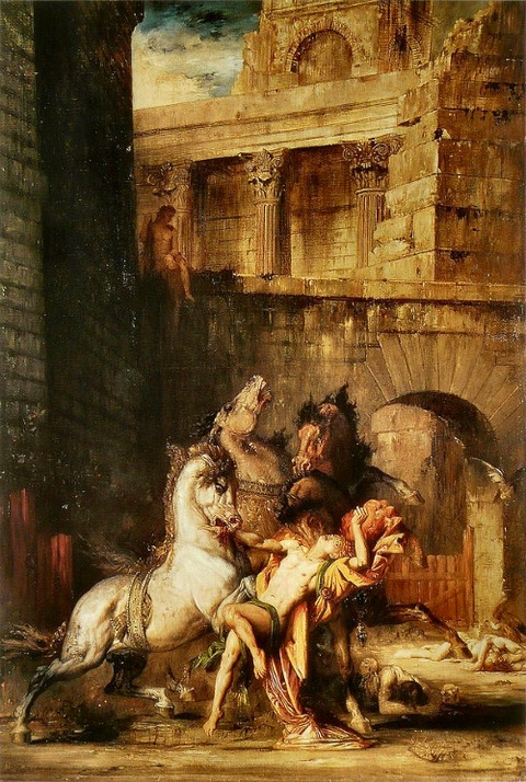 Diomedes Devoured By His Horses by Gustave Moreau