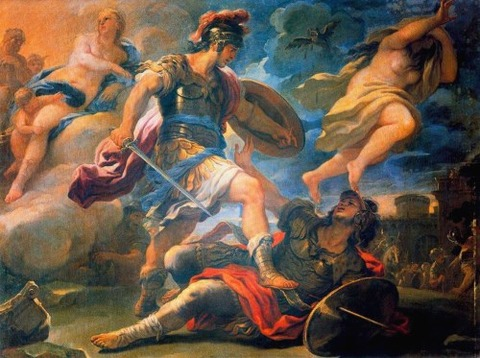 Luca Giordano Aeneas and Turnus 17th