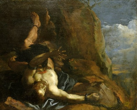 Prometheus Bound, anonymous 17th Italian