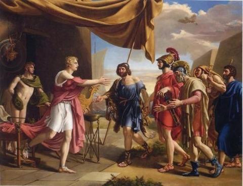 Gottlieb Schick  Achilles Welcoming Agamemnon's Ambassadors 1801