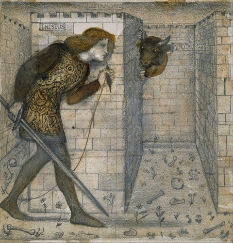 Edward Burne-Jones Theseus and the Minotaur 1861