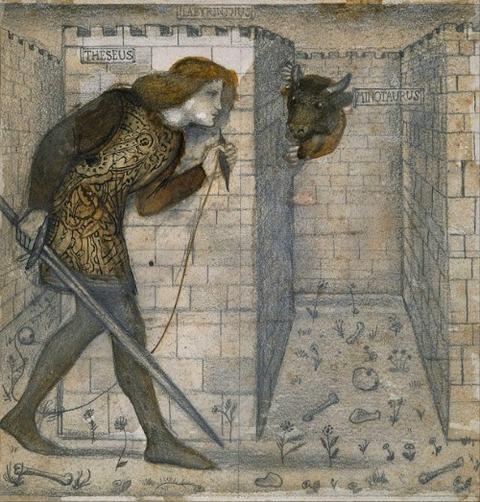 Edward Burne-Jones Theseus and the Minotaur 1861