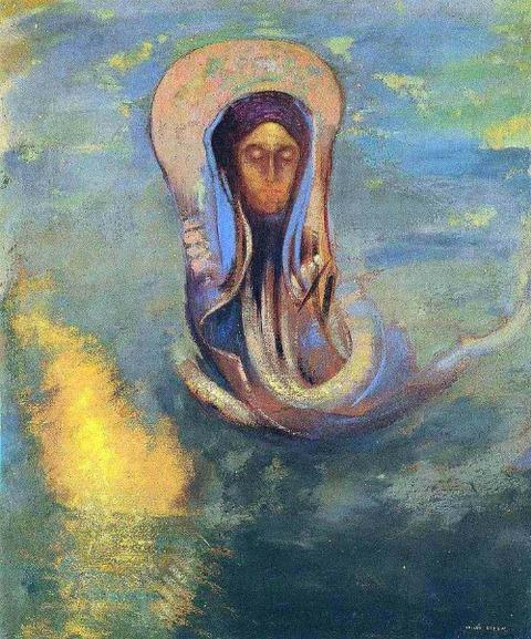 Oannes, 1910 by Odilon Redon