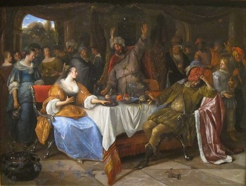 Esther, Ahasuerus, and Haman Jan Steen 1668