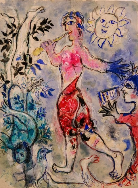 Marc Chagall  Variation on the Theme of Magic Flute 1966-67