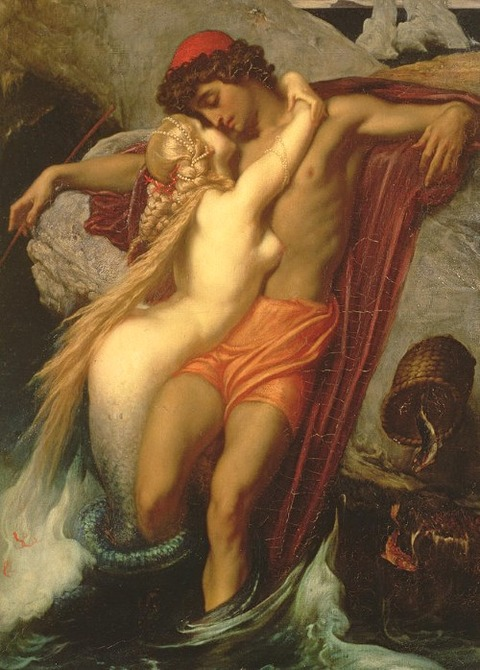 The Fisherman And The Siren by Frederic Leighton 1857