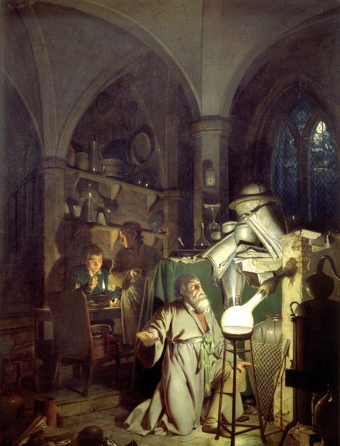 Joseph Wright of Derby  1771 リンの発見