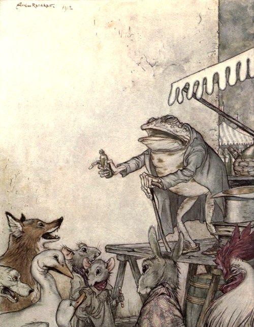 イソップ童話(寓話)の絵画14点。...
