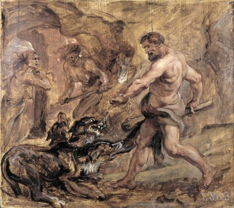 Peter Paul Rubens - Hercules and Cerberus, 1636