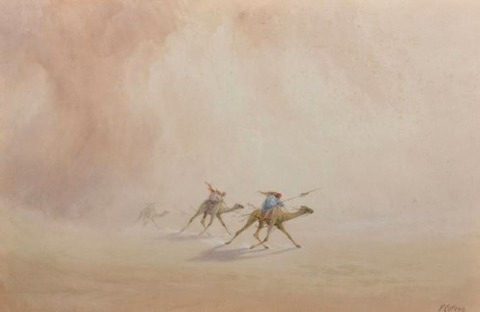 Frank Catano 19th  Racing Camels in the Desert
