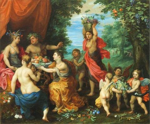 Ceres Bacchus Venus Jan Brueghel Y Hendrick Van Balen 1608-16