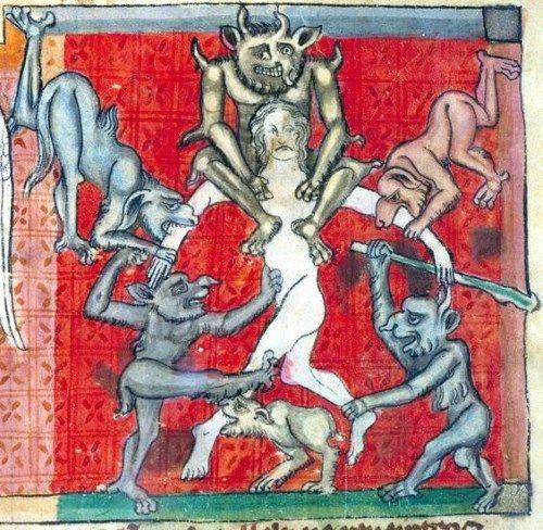 悪魔の絵画写本挿絵